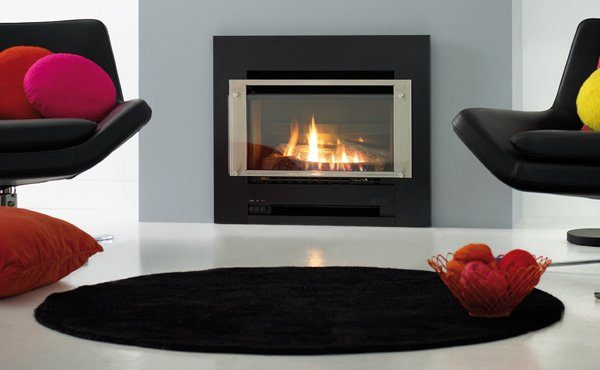 Slimifre 252 gas fireplace insert in a home